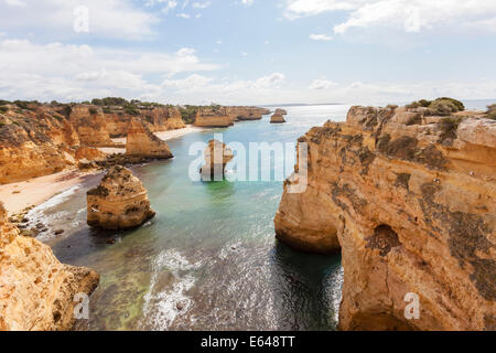 Coastline, Praia da Marinha, Algarve, Portugal - Stock Photo
