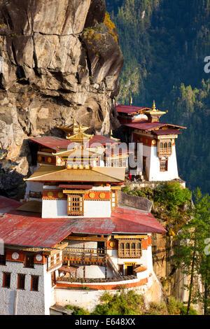 Tigers Nest (Taktsang Goemba), Paro Valley, Bhutan - Stock Photo
