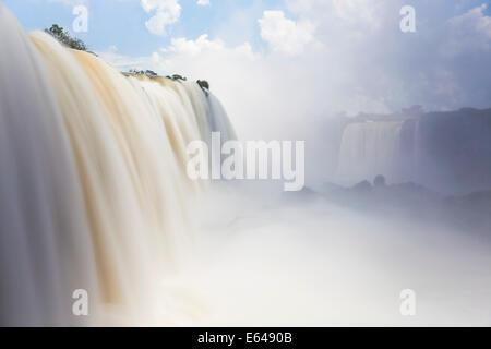 Iguacu (Iguazu) Falls, Cataratta Foz do Iguacu, Parana, Iguazu National Park, Brazil - Stock Photo