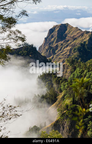 Mountains above the clouds, Santo Antao, Cape Verde - Stock Photo