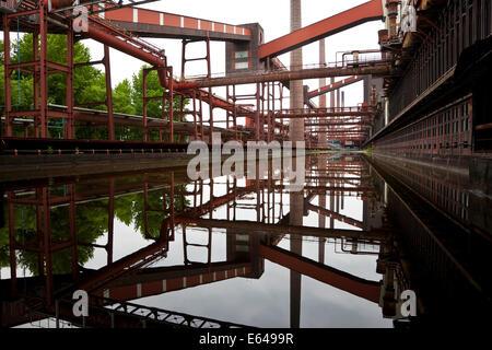 Coking Plant, Kokerei Zollverein, Essen, Ruhr Valley, Ruhr, Northrhine Westphalia, Germany - Stock Photo