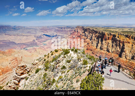 Scenic view of the Grand Canyon and Colorado river from the Grand Canyon South Rim. Arizona, USA. - Stock Photo