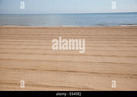 The beach at sutton on sea - Stock Photo