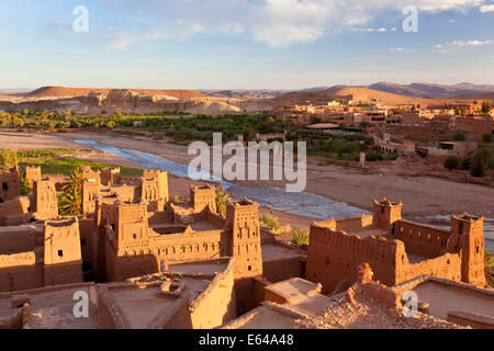 Morocco, High Atlas Mountains, Ait Ben Haddou Ksar classified as World heritage by UNESCO - Stock Photo