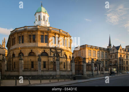 Sheldonian Theatre, designed by Christopher Wren, Oxford University, Oxfordshire, England - Stock Photo