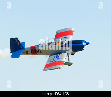 VANS RV-8 aircraft in aerobatic display in the UK - Stock Photo