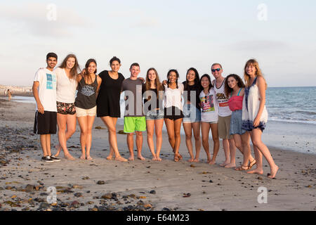 Young adults, teenagers, Capistrano Beach, aka Capo Beach, city of Dana Point, Orange County, California, United - Stock Photo