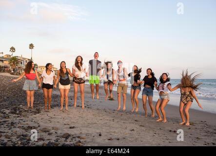 Young adults, teenagers, Capistrano Beach, aka Capo Beach, city of Dana Point, Orange County, California, United States Stock Photo