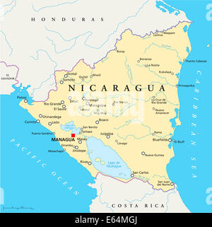 the geography population and politics of nicaragua 45) mexico, nicaragua, and panama are all located on the land bridge portion of the middle american realm t 46) a small strip of land connecting two larger landmasses is called an isthmus.