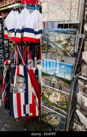 Souvenir shop in Paris, France - Stock Photo