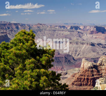 Grand Canyon south rim view from Pipe Creek Vista, Arizona USA, 2014 scenic landscape photography - Stock Photo