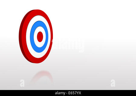 Digitally generated Blue and red target - Stock Photo
