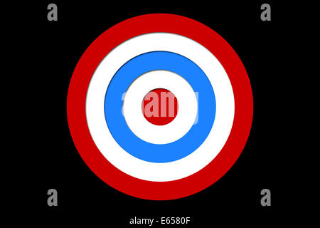 Digitally generated Red and blue target - Stock Photo