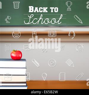 Composite image of school icons - Stock Photo