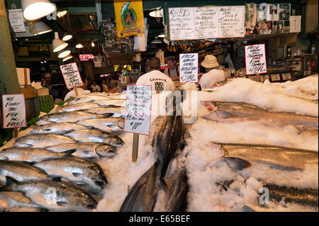 Fresh salmon for sale pike place public market seattle for Famous fish market in seattle