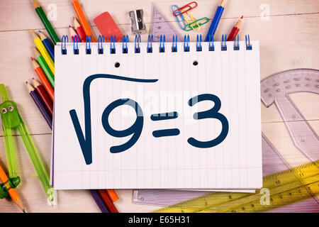 Composite image of square root of three - Stock Photo