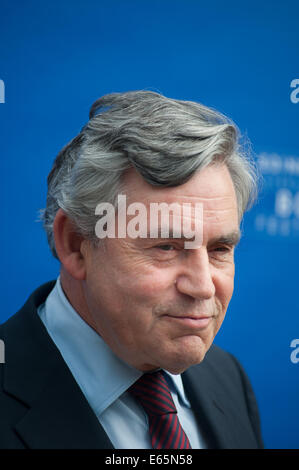 Edinburgh, Scotland, UK. 15th Aug, 2014. Former british Prime Minister, Gordon Brown, appearing at the Edinburgh - Stock Photo