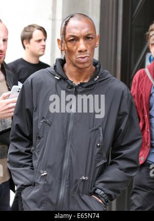 London, UK, 15th August 2014. Tricky seen at the BBC studios in London, UK - Stock Photo