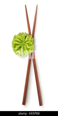 Wooden chinese sticks isolated on a white background - Stock Photo
