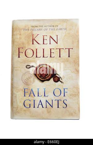 The historical novel 'Fall of Giants' by Ken Follett. - Stock Photo