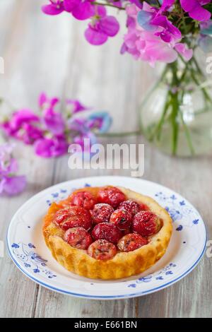 Gooseberry tart - Stock Photo