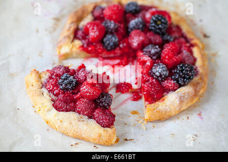 Summer berry tart - Stock Photo