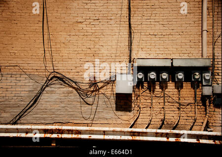 Electric meters - Stock Photo