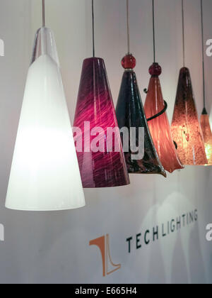 Colourful hanging lamps on sale deira souk the creek dubai lighting by gregory store showroom in the bowery nyc usa stock photo mozeypictures Gallery