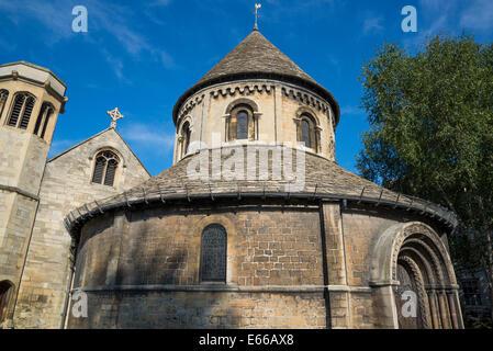 Round Church or Holy Sepulchre Church, Cambridge, England, UK - Stock Photo