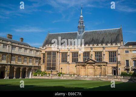 Trinity College, Nevile's Court, Cambridge, England, UK - Stock Photo