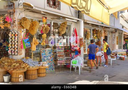 Gift & souvenir shopping in Bodrum town, Mugla province, Turkey - Stock Photo