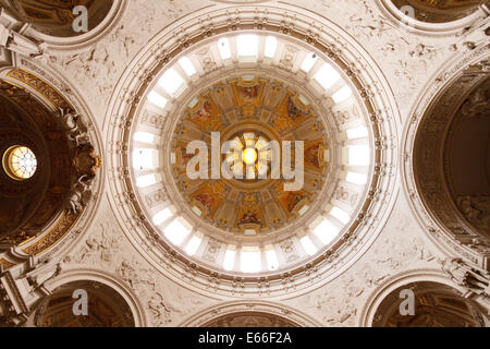 Ornate interior of the Berlin Cathedral (Berliner Dom), Berlin, Germany - Stock Photo
