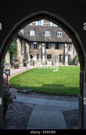Corpus Christi College, Old Court, Cambridge, England, UK - Stock Photo
