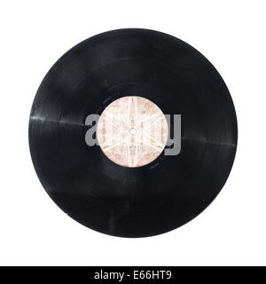 Vinyl record disc isolated on white - Stock Photo