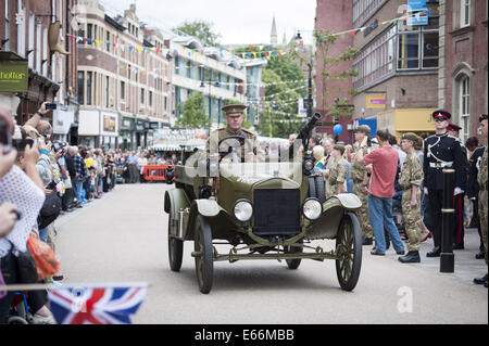High street worcester uk th august first world war and