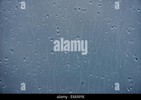 Water drops on glass background - Stock Photo