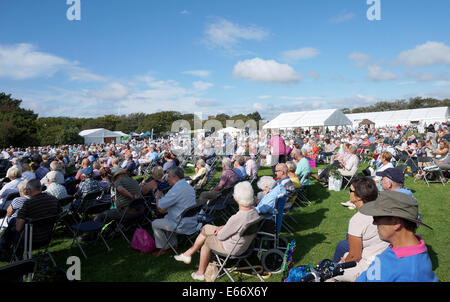 Merseyside, UK. 15th Aug, 2014. Thousands turned out on the second day of the Southport Flower Show to enjoy the - Stock Photo