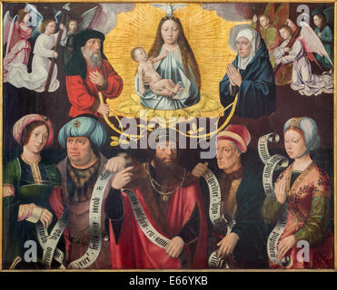 The Exaltation of the Holy Virgin by panter konwn as 'master of the holy blod' in st. Jacobs church (Jakobskerk). - Stock Photo
