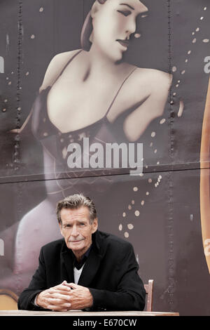 Edinburgh, Scotland, UK. 16th Aug, 2014. William McIlvanney, Scottish author at the Edinburgh International Book - Stock Photo