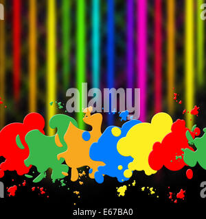 Paint Color Meaning splash color meaning paint colors and design stock photo, royalty