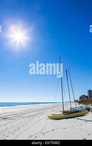 The northern end of Myrtle Beach, South Carolina, USA - Stock Photo