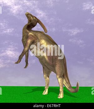 Dinosaurier Parasaurolophus / dinosaur Parasaurolophus - Stock Photo