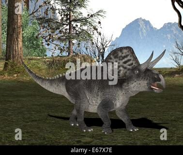 dinosaur Zuniceratops - Stock Photo