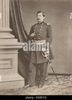 Major General George B. McClellan, Union General, USA Civil War, circa 1862 - Stock Photo