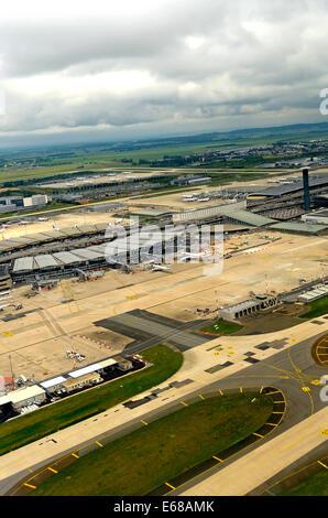 Roissy Charles-de-Gaulle international airport France - Stock Photo