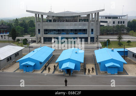 The Joint Security Area, Conference Row, Dmz, Korean Demilitarized Zone, Panmunjom, North Korea - Stock Photo