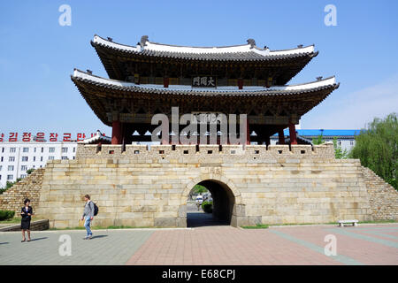 Tuedong Gate, Pyongyang, North Korea, Asia - Stock Photo