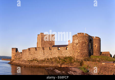 Medieval Norman Castle in Carrickfergus, Northern Ireland - Stock Photo