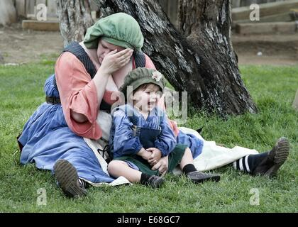 stress mother baby woman parent stressed lady - Stock Photo