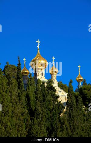 Church Of St. Mary Magdelene, Mount Of Olives, Jerusalem, Israel, Middle East - Stock Photo